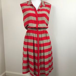 Pippa Collar Button Front Dress Striped